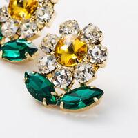 Fashion Womens Flower Crystal Earring Drop Dangle Stud Earrings Jewelry Gift