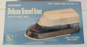 Vintage NIB Hartman Travel Iron No. TI-1 120V/ 240V Hong Kong NEW