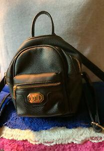 Juicy Couture Love Me Not Black PVC Shoulder Bag Handbag Zip Backpack Style