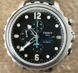 TISSOT Seastar 1000 T066427A CHRONOGRAPH St Steel Automatic 48mm MENS Watch
