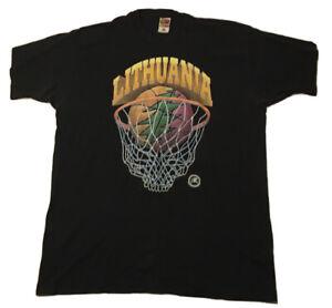 Vintage 1996 Grateful Dead Team Lithuania Basketball Shirt Size XXL 90s Rare Vtg
