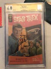 STAR TREK #1 CGC SS WILLIAM  SHATNER CAPTAIN KIRK GOLD KEY 1967 Back Cover Photo
