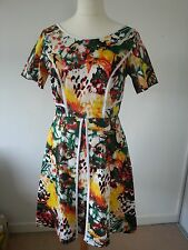 Multi-coloured short summer dress size 14 handmade