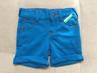 True Religion Blue Terry Shorts Size 12 Month Baby Girl New