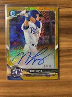 2018 Bowman Chrome Nicky Lopez Gold Shimmer Refractor Auto RC #'d /50 Autograph