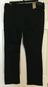 Levi's Black Classic Straight Mid Rise Denim Jeans Size 18W M NWT