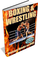 BOXING & WRESTLING ~ Vintage Books on DVD ~ Self Defense, Combat Sport, Glove