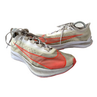 Nike Zoom Fly SP Men's Size 8.5 White Orange Athletic Running Shoes Sneakers