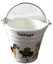 Dogs Teabag tidy bucket shaped used teabag pot, perfect for a good quantity