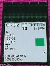 GROZ BECKERT AGHI PER MACCHINE DA CUCIRE INDUSTRIALI 134R DPX5 MISURA 14/90