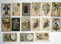 LOT OF  29  EASTER GREETINGS ANTIQUE  POSTCARDS  SOME TUCK SOME INTL ART