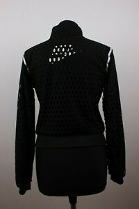 Nike Black Mesh Truck Jacket Women Sz S Records Since 71 000460