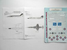 """CF/F-104G STARFIGHTER """"2RCAF/GERMANY"""" SUPERSCALE DECALS 1/48"""