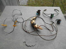 LOT NAVAJO,ZUNI,NATIVE AMERICAN INDIAN JEWELRY, BOUGHT 1970'S NATIVE RESERVATION
