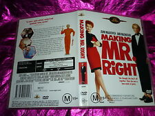 MAKING MR.RIGHT JOHN MALKOVICH DVD M15+ RATED
