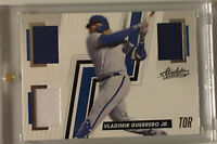 Vladimir Guerrero Jr Game Used Triple Relic Card Blue Jays Baseball Cards Rookie