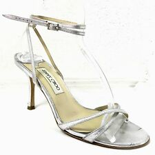Jimmy Choo Sandal Heels Silver Women's 38.5  8.5