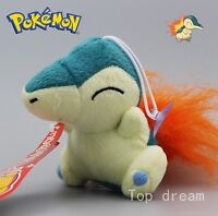 New PK Cyndaquil Plush Toy Soft Stuffed Animal Collectible Doll Teddy 12cm