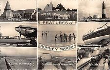 BR98405 features of romney marsh ship train airplane plane   uk airport lydd