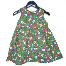 Vintage OshKosh Bgosh Vegetable Flower Garden Jumper Dress 3T Green Pink Veggie