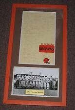 1963 Cleveland Browns Signed Team sheet Framed matted  Jim Brown