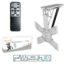 TV Mount Motorized, with IR Remote Control Folding Ceiling Bracket for LCD TV T