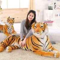 67'' Huge Big Giant Plush Stuffed Tiger Emulational Toy Animal doll birthday gif