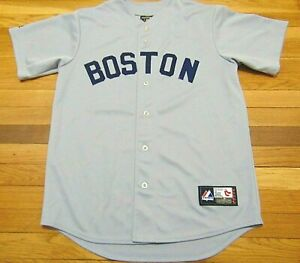 VINTAGE MAJESTIC MLB BOSTON RED SOX GRAY COOPERSTOWN COLLECTION JERSEY SIZE M