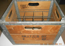 Vintage Milk Crate Gratzer Dairy Syracuse NY 1961 Mint Jug Holder Porch Wine '61