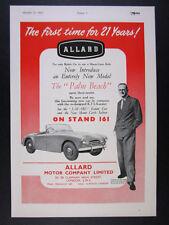 1952 Allard Palm Beach Mk I roadster convertible vintage print Ad