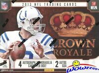 2013 Panini Crown Royale Football Factory Sealed HOBBY Box-4 AUTO/MEMORABILIA