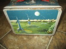 Vintage 1958 Thermos LUNCHBOX Outer Space,Rocket,Moon,Satellite,Station