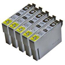 5 kompatible Tintenpatronen schwarz für den Drucker Epson SX235W S22 SX230