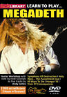 NEW LEARN TO PLAY MEGADETH LICK LIBRARY GUITAR DVD  for sale