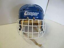 Vintage Cooper SK2000 L Blue Helmet w/ Cage