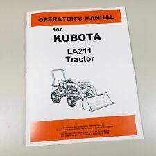 Kubota La211 Front Loader Tractor Operators Owners Manual Maintenance
