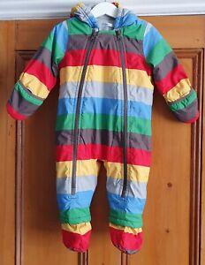 Baby Boden rainbow snowsuit 6-12 months
