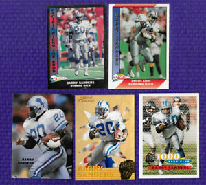 5 1990 1991 1996 PACIFIC SILVER TOPPS ACTION PACK GOLD STARS BARRY SANDERS LIONS