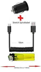Chargeur Câble Spiralé pour IPHONE USB Double Voiture Adaptateur 12V Court Plat