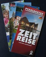 4 Stück Info Pfahlbauten, Insel Mainau, Die Meersburg + Ravensburger Spieleland