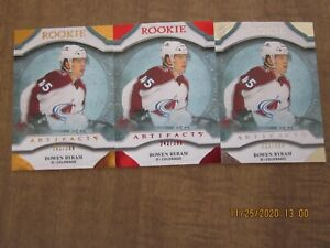 2020-21 Upper Deck Artifacts Bowen Byram Rookie Variations Card Lot (3)