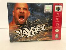 WCW Mayhem (Nintendo 64, 1999) sealed. Brand new wwe wwf wcw wrestling n64