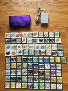 Nintendo 3DS Midnight Purple Console System + CHOOSE 1 GAME BUNDLE LOT FAST SHIP