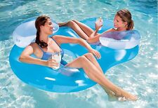 New Bestway Inflatable Double Ring Float Tube Swim Swimming 2-Person Pool
