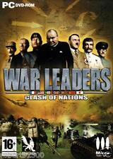 JEU PC DVD ROM../...WAR LEADERS......CLASH OF NATIONS.....