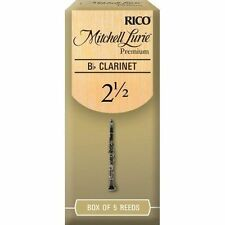 Mitchell Lurie Premium BB Clarinet Reeds Strength 2.5 5-pack by Rico