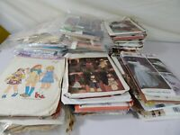 Lot of 60 Vintage Design Patterns 1970's to 2000's Womens, Kids, and More