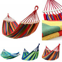 Outdoor Fabric Double Hammock Swing Hanging Bed for Patio, Garden or Backyard