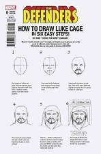 Defenders #6 Marvel Comics 2017 Chip Zdarksy How To Draw Luke Cage Variant