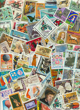 Flashy * Topical Worldwide (NO USA) Stamp Mixture 100 Stamps Off Paper + Bonus